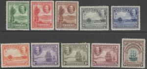 ANTIGUA SG81/90 1932 TERCENTENARY SET MTD MINT