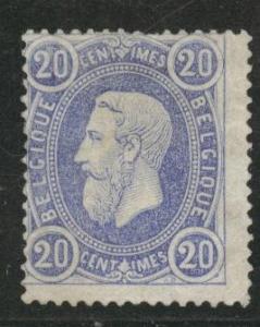 Belgium Scott 33 MNG no gum 1870 perf 15 stamp  CV$140