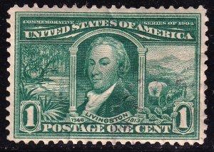 US STAMP #323 1904 1c Louisiana Commemorative: Louisiana Purchase USED