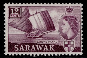 SARAWAK QEII SG194, 12c plum, M MINT.