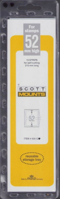 Scott / Prinz Pre-Cut 52 High Strips 215mm Long Stamp Mounts 215x52 Clear