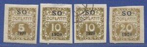 EASTERN SILESIA Czechoslovakia 1920 Sc J1a,J2,J4 Mint + Used, Postage Dues
