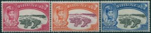 Brunei 1949 SG93-95 Silver Jubilee Sultan and Water Village set MLH