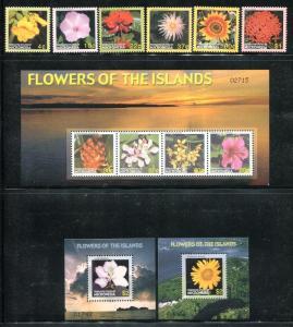 Micronesia 673-684, MNH, 2005 Flowers. x27189
