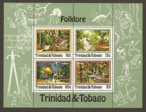 Trinidad & Tobago #370a NH Folklore SS