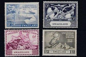 SWAZILAND     1949  UPU SET OF 4   MH