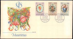 Mauritius, Worldwide First Day Cover, Royalty, Flowers