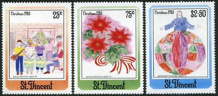St. Vincent MNH 903-5 Christmas 1985 SCV 2.50