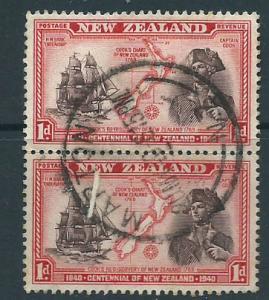 New Zealand SG 614  Used pair Marton cancel
