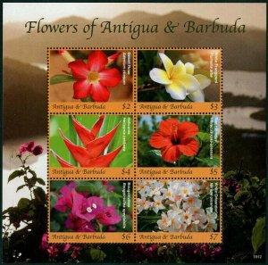 HERRICKSTAMP NEW ISSUES ANTIGUA Sc.# 3413 National Flowers Sheetlet