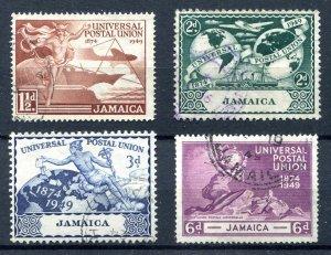 Jamaica 1949. UPU set of 4. Used. SG145/148.