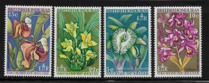 British Honduras MNH 226-9 Orchids Flowers 1969 SCV 3.90