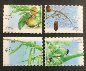 Angola MNH 1261-4 Fruit Trees Flora 2004