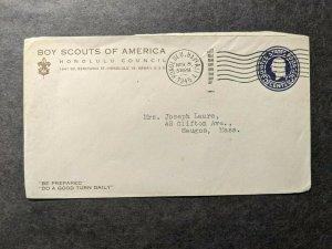 BOY SCOUTS, HONOLULU, HAWAII 1945 Postal History Cover BSA Be Prepared