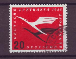 J20642 Jlstamps 1955 germany hv of set used #c64 airplanes emblems