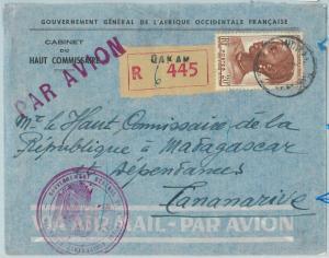 67330 -  Afrique Occidental SENEGAL - Postal History: COVER to MADAGASCAR