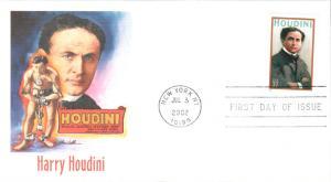 #3651 Harry Houdini Fleetwood FDC