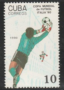 1990 Cuba Stamps Sc 3194 Soccer Italy World Cup  MNH