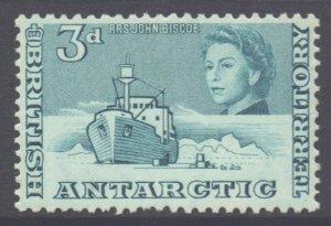 British Antarctic Territory BAT Scott 6 - SG6, 1963 Elizabeth II 3d MNH**
