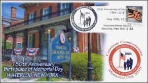 2016, Memorial Day, 150th Anniv, Waterloo NY, Birthplace, May 30th, 16-121