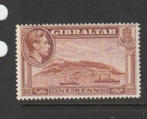 Gibraltar GV1 1938/51 1d P14 MM SG 122