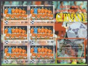 2006 Grenada 5717KL 2006 FIFA World Cup Germany( Netherlands ) 9,00 €