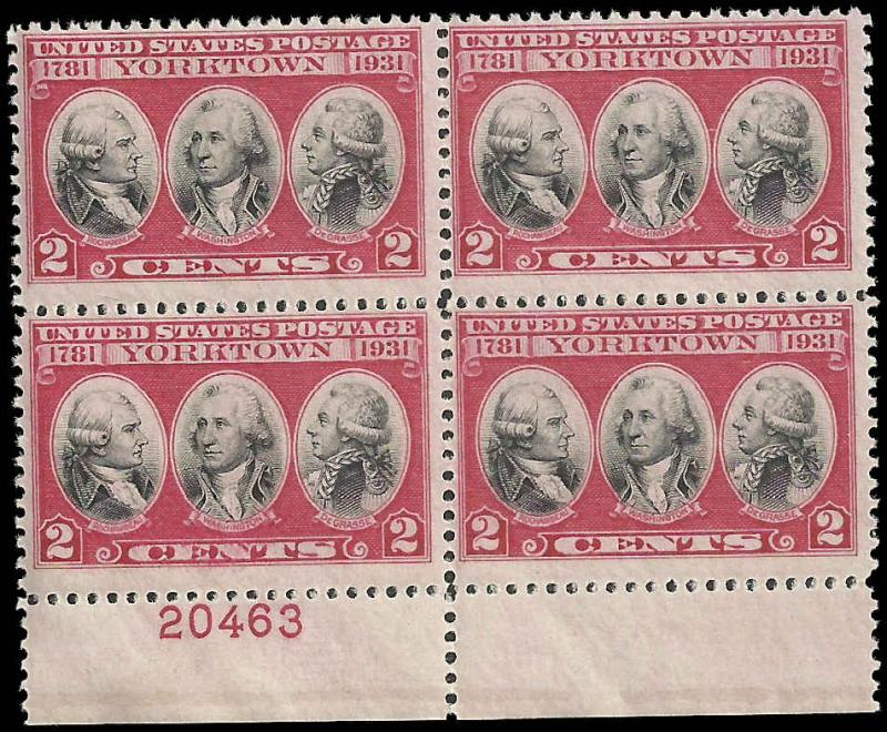 # 703 Mint Never Hinged Color Shift Carmine Rose And Black Yorktown