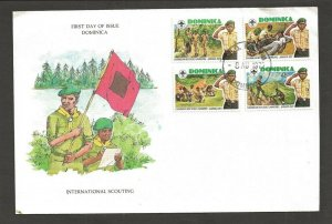 1977 Dominica Boy Scouts 6th Caribbean Jamboree FDC