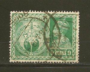 India 195 Symbols of Victory King George VI Used
