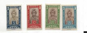 Gabon, J12-J15, Postage Due Singles, LH
