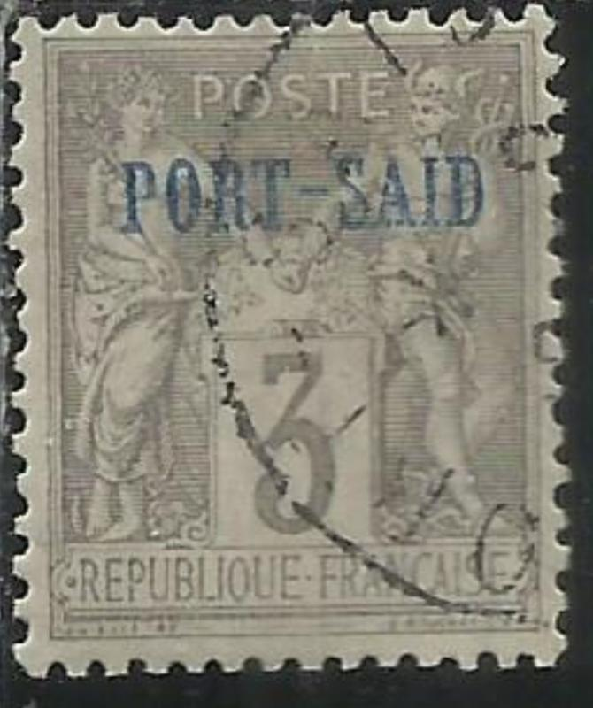 PORT SAID 1899 1900 NAVIGATION AND COMMERCE CENT. 3 USATO USED OBLITERE'