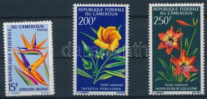 Cameroon stamp Flowers set MNH 1967 Mi 515-517 WS191254