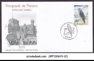 MONACO - 2019 EUROPA / NATIONAL BIRDS / FALCON - FDC