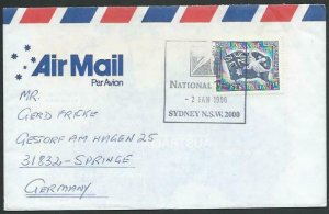 AUSTRALIA 1996 cover to Germany - nice franking - Sydney pictorial pmk.....53464