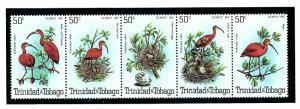 Trinidad and Tobago 328 MNH 1980 Birds strip of 5