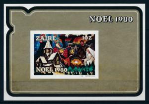 [98464] Zaire 1980 Christmas Weihnachten Noël Christ Church Imperf. Sheet MNH