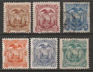 Ecuador 1881 Sc 12-7 set most MH*