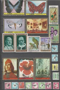 COLLECTION LOT # 10L AJMAN 50 STAMPS CLEARANCE
