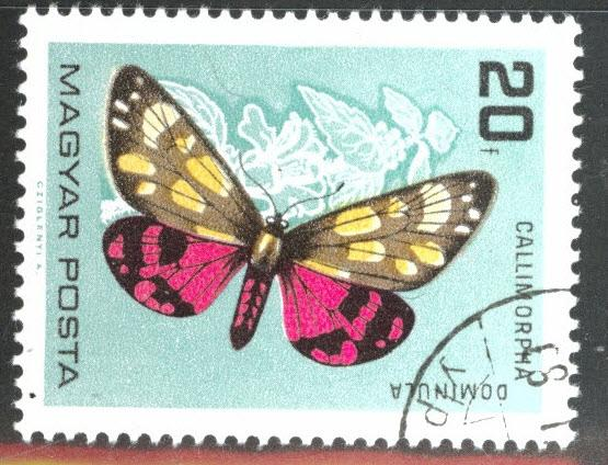 Hungary Scott 1726 Used CTO butterfly stamp