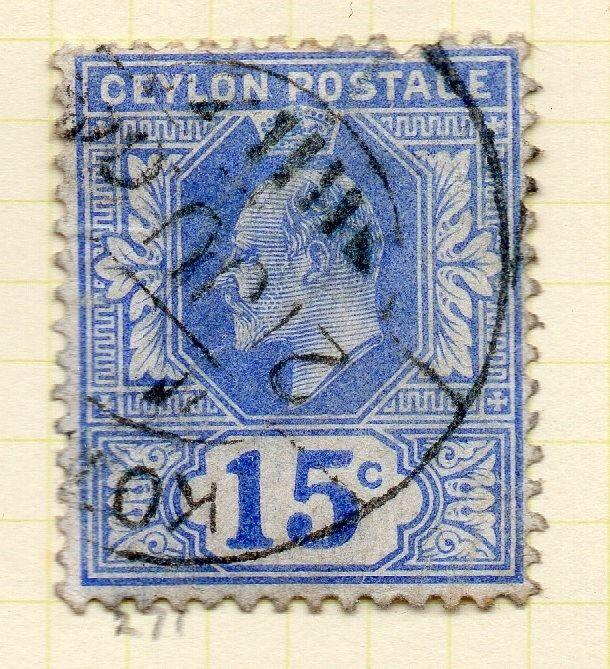 Ceylon 1903-05 Early Issue Fine Used 15c. 263405