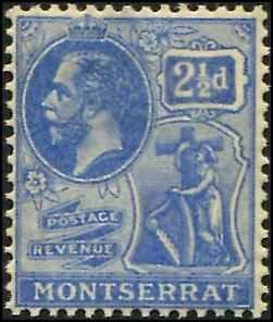 Montserrat SC# 62 KGV 2-1/2d wmk 4
