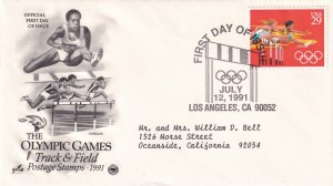 1991, Olympic Games-Track & Field, Art Craft/PCS, FDC (E11281)