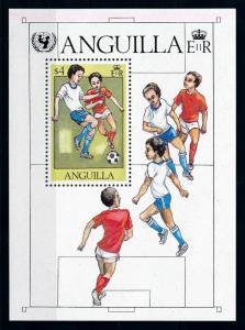 [75778] Anguilla 1981 Football Soccer UNICEF Souvenir Sheet MNH
