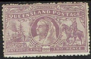 QUEENSLAND 1900 BOER WAR CHARITY 2D