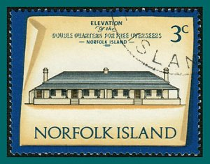 Norfolk Island 1975 Buildings IV, 3c used  #158,SG135
