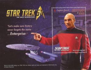 Guyana - 2016 Star Trek Captain Picard - Stamp Souvenir Sheet - 7C-023