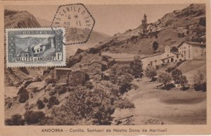 Andorra French Administration 1c Chapel of Meritxell 1933 Canillo, Valees d'A...