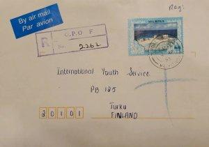 O) 1998 MAURITIUS, ENVIRONMENTAL PROTECTION,  BENARES SURF, FROM G.P.O. TO FINLA