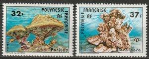 French Polynesia 1979 Sc 311-2 set MNH**
