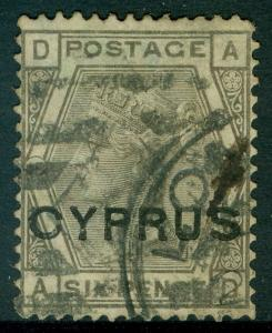 CYPRUS : 1880. Stanley Gibbons #5 Very tiny thin speck otherwise VF Cat €650.
